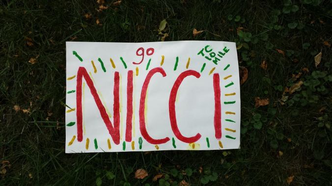 This is the first time anyone has made me a sign!! Thanks, Becca!!!
